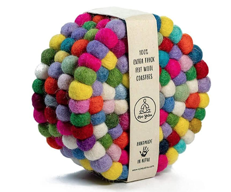 Fair Trade Felt Ball Coasters